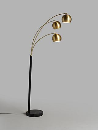 John Lewis & Partners Hector 3 Arm Arched Floor Lamp
