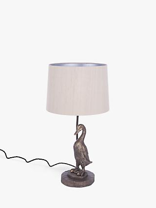 David Hunt Duck Table Lamp, Polished Bronze