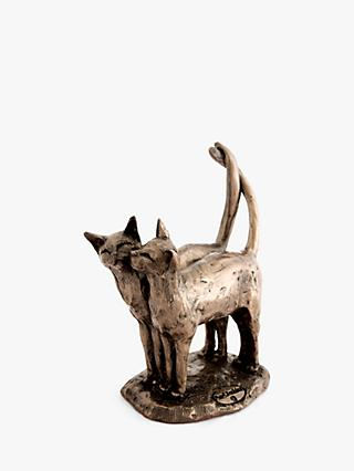 Frith Sculpture Two's Company Cat Sculpture, Bronze