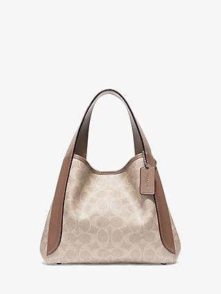 Coach Hadley Leather Small Hobo Bag