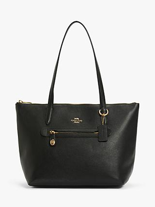 Coach Taylor Leather Zip Top Tote Bag