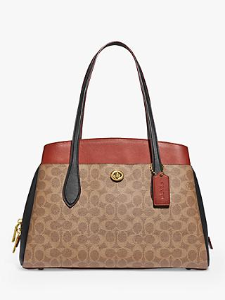 Coach Lora Carryall Tote Bag, Tan/Rust