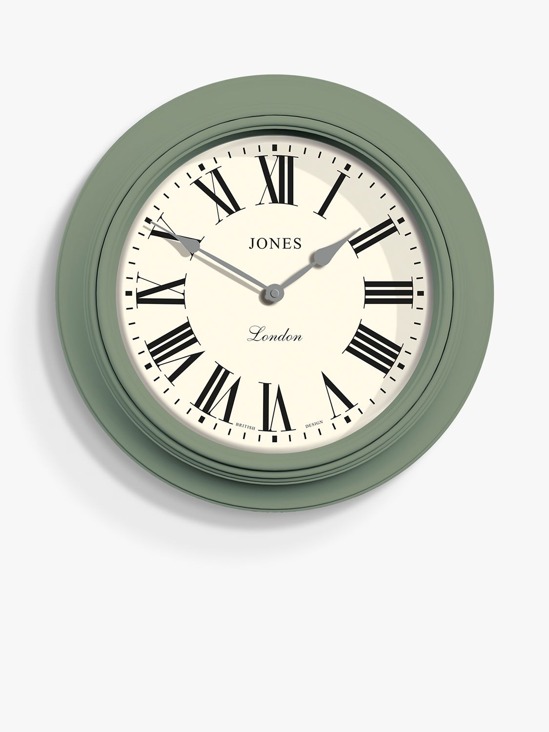 Jones Clocks Jones Clocks Supper Club Roman Numerals Analogue Wall Clock, 40.5cm