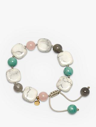 Lola Rose Hilda Bracelet, White Magnesite/Rose/Cloudy Quartz/Russian Amazonite