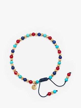 Lola Rose Boxed Beaded Bracelet, Turquoise Magnesite/Crimson Quartz/Lapis
