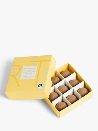 John Lewis & Partners Hot Cross Bun Milk Chocolate Truffles, Box of 9, 90g