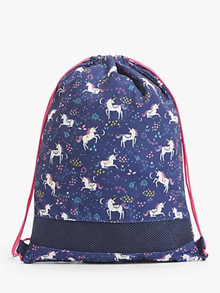 John Lewis & Partners Children's Unicorn Drawstring Bag