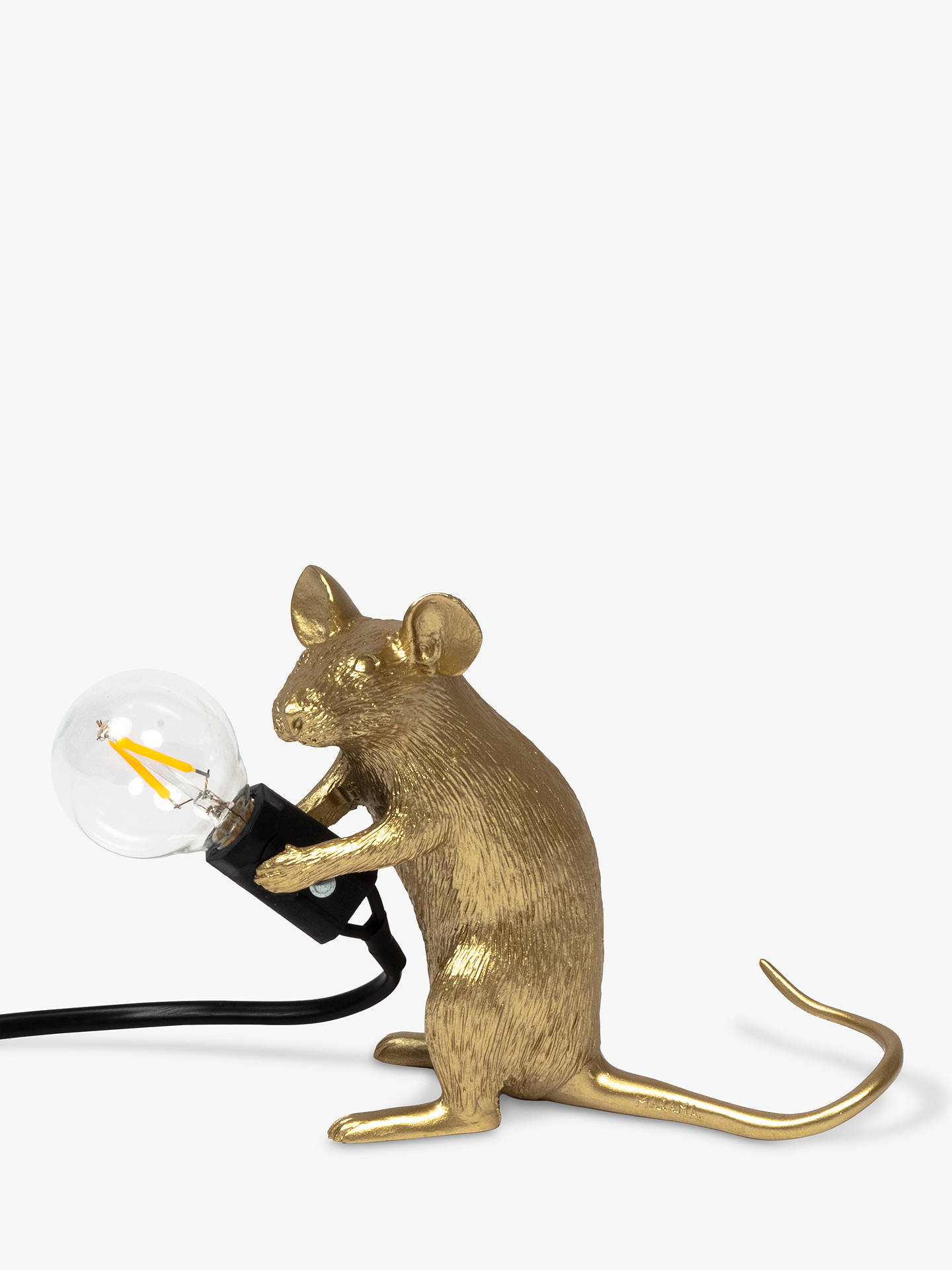 Seletti Sitting Mouse Table Lamp, Gold