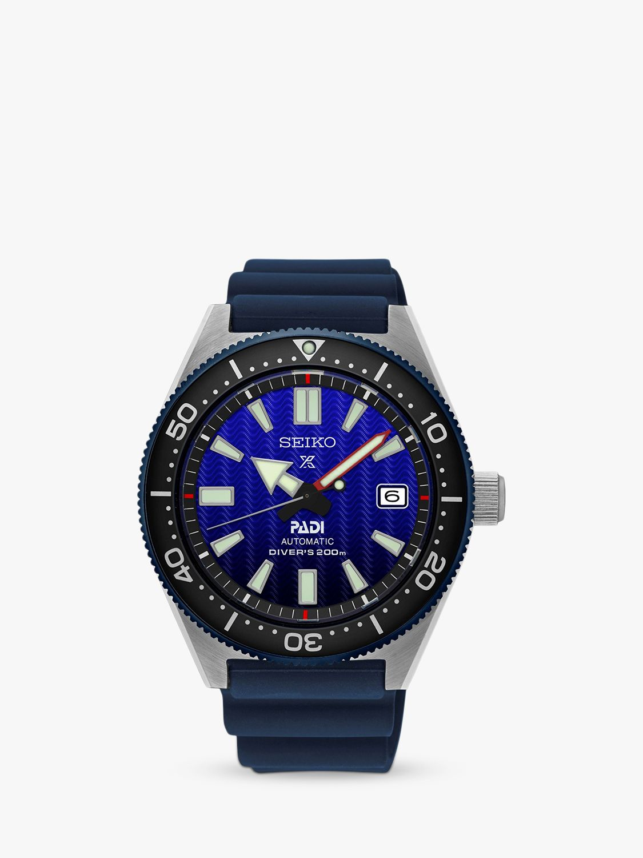 Seiko Seiko SPB071J1 Men's Prospex Divers Automatic Date Silicone Strap Watch, Blue