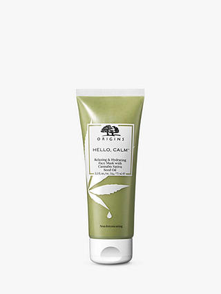 Buy Origins Hello, Calm™ Relaxing & Hydrating Face Mask With Cannabis Sativa Seed Oil, 75ml Online at johnlewis.com