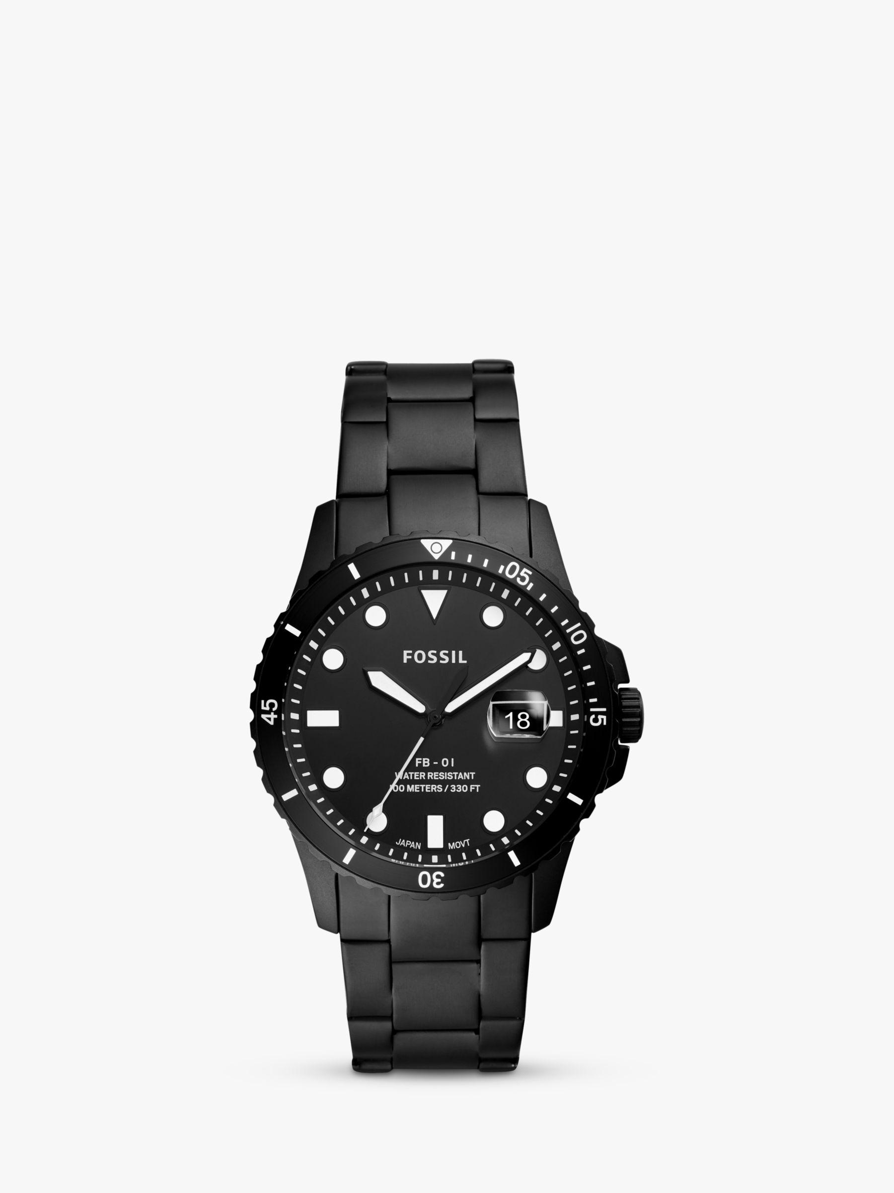 Fossil Fossil FS5659 Men's FB01 Date Bracelet Strap Watch, Black