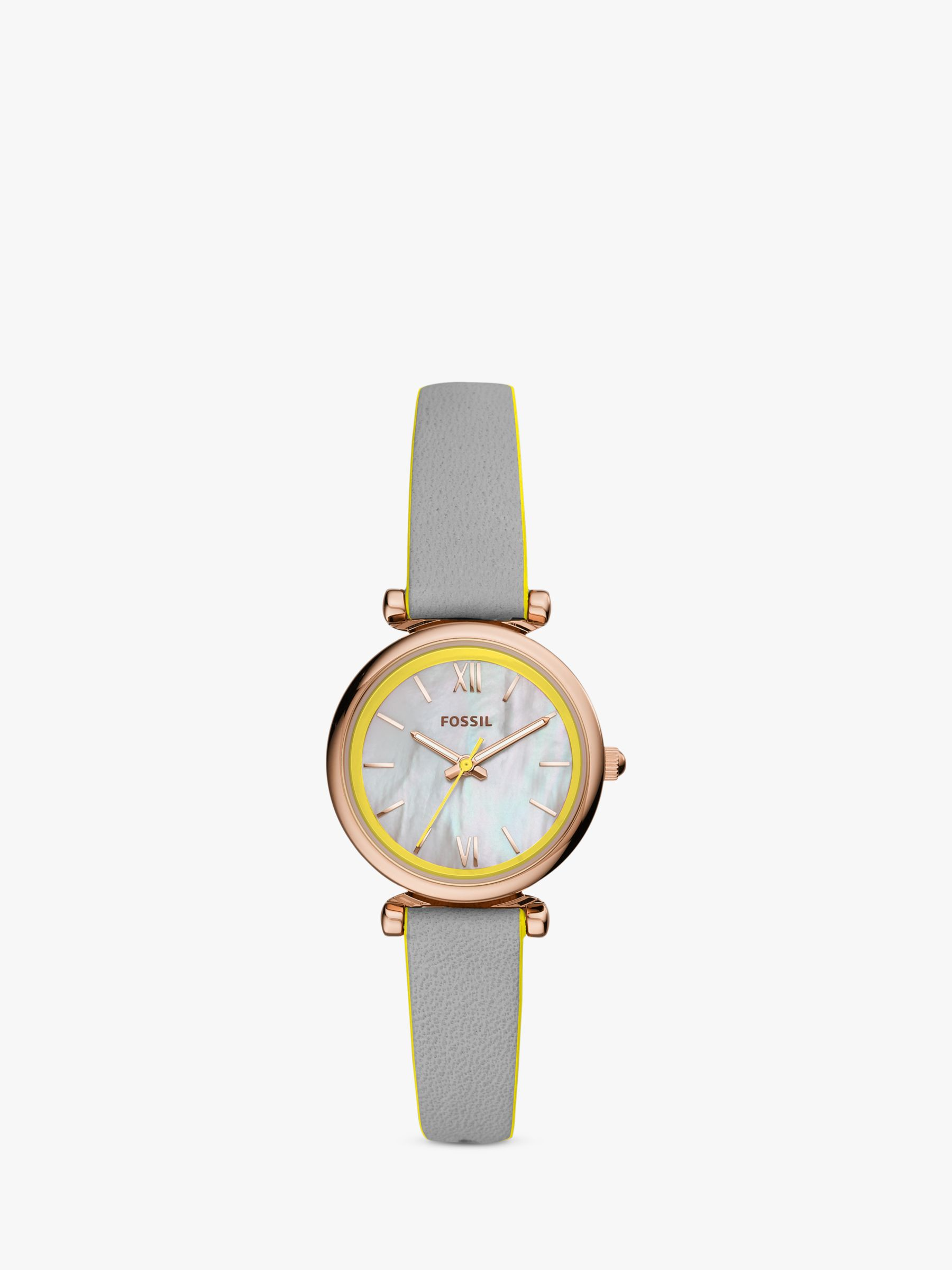 Fossil Fossil Women's Carlie Leather Strap Watch