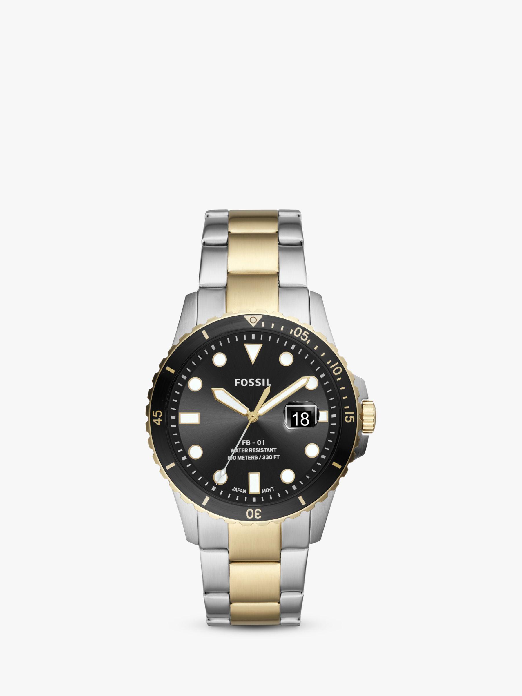 Fossil Fossil Men's FB01 Date Bracelet Strap Watch