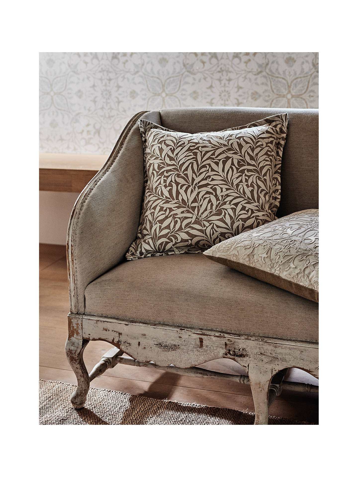 Buy Morris & Co. Pure Willow Boughs Furnishing Fabric, Flax Online at johnlewis.com