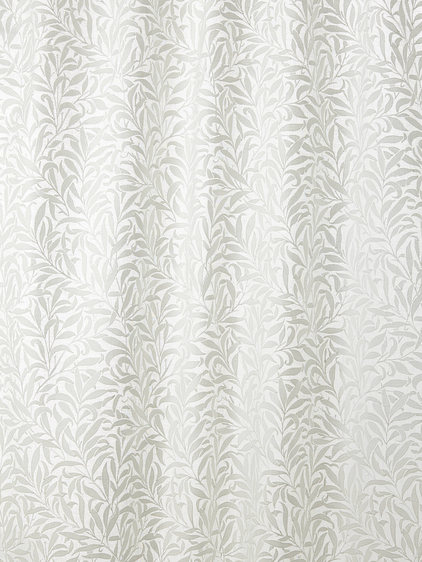 Buy Morris & Co. Pure Willow Boughs Furnishing Fabric, Paper White Online at johnlewis.com