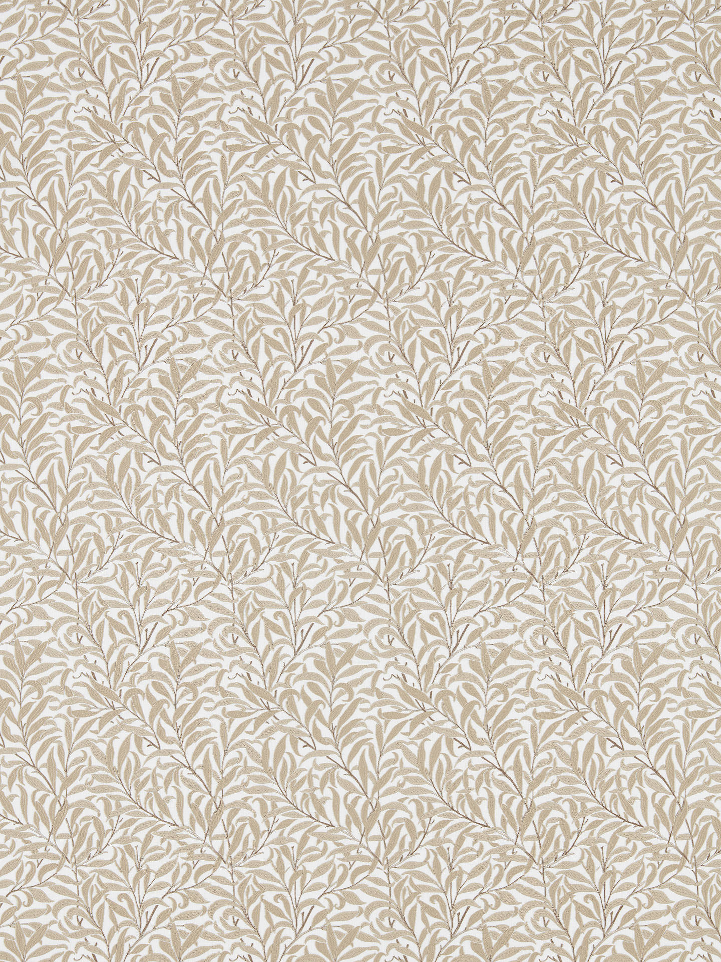 Buy Morris & Co. Pure Willow Boughs Furnishing Fabric, Wheat Online at johnlewis.com