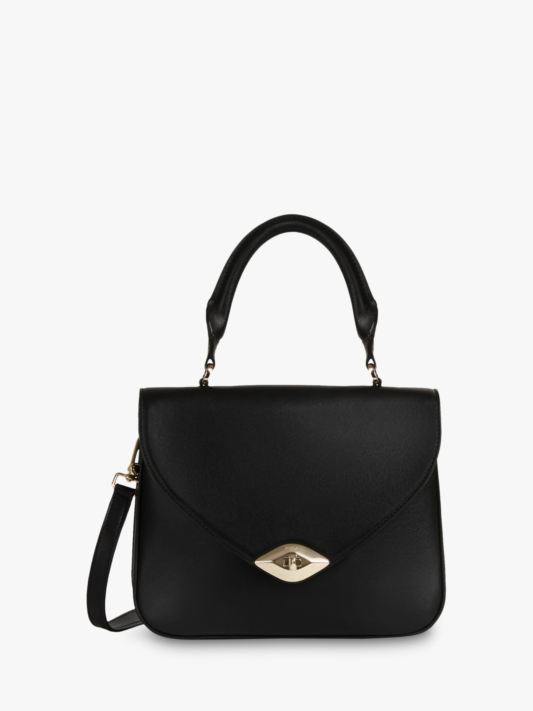 Furla Furla Eye Leather Grab Bag, Nero