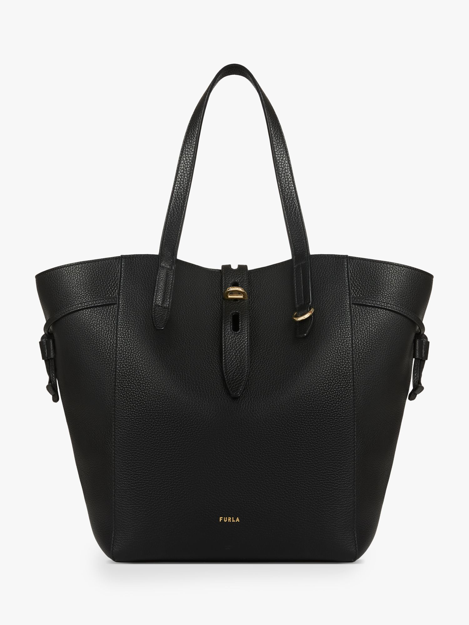 Furla Furla Net Large Leather Tote Bag, Nero