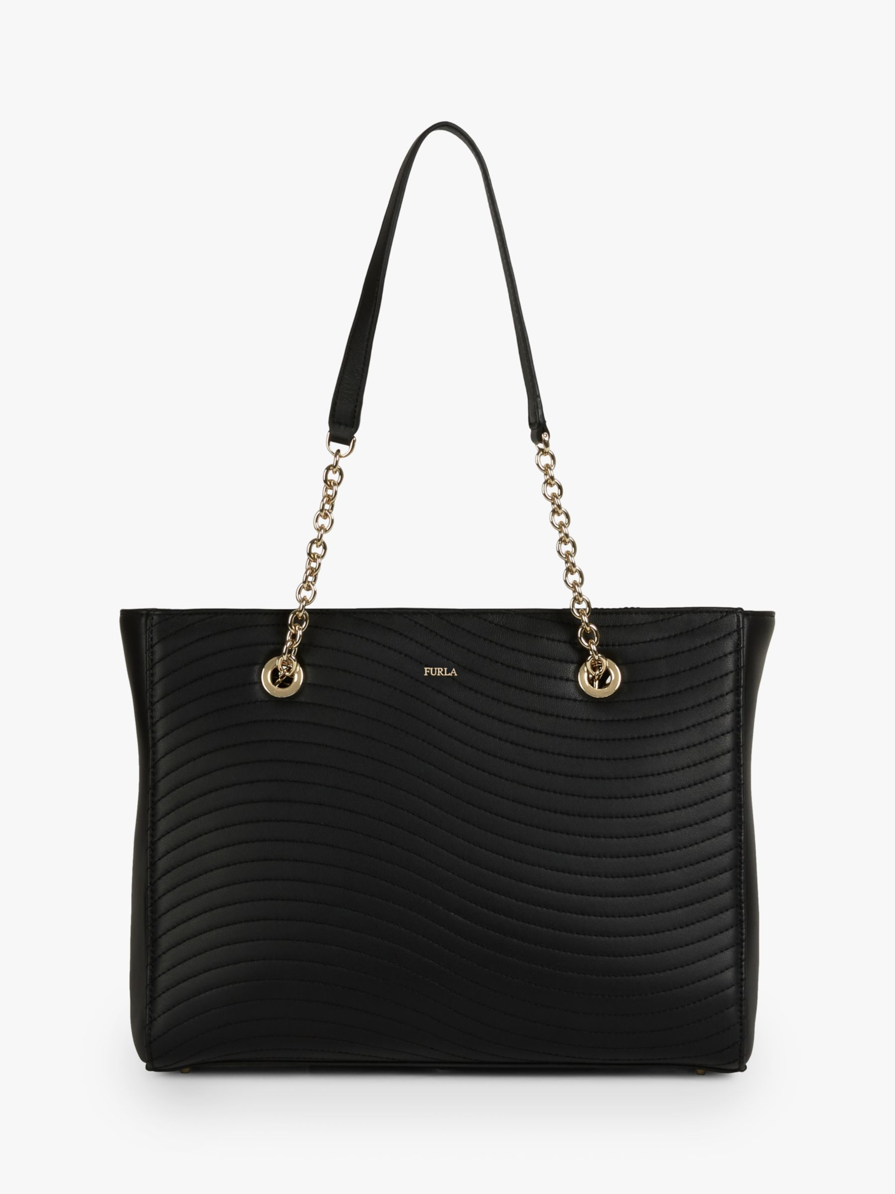 Furla Furla Swing Leather Tote Bag, Nero