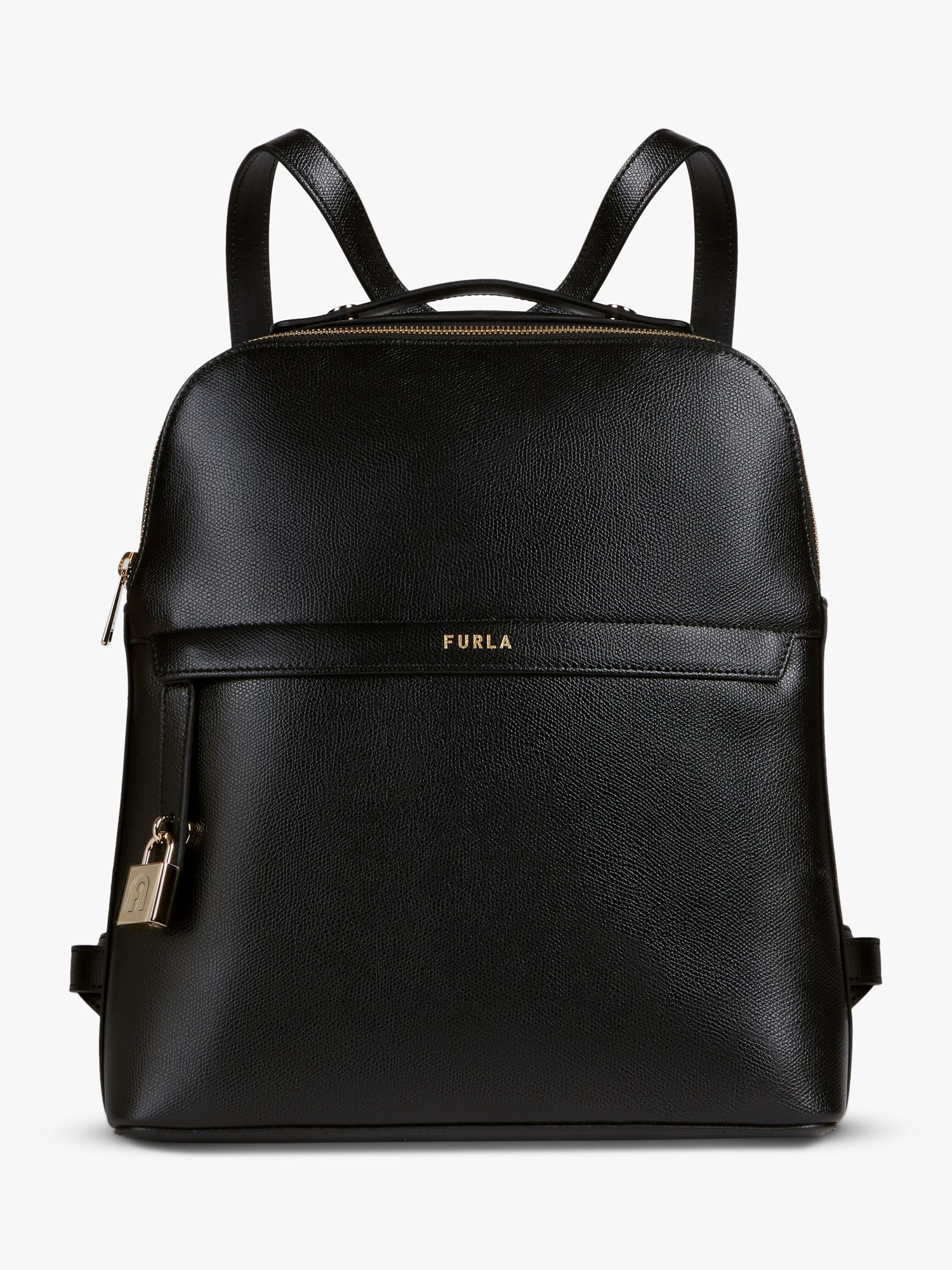 Furla Furla Piper Leather Backpack, Nero Black
