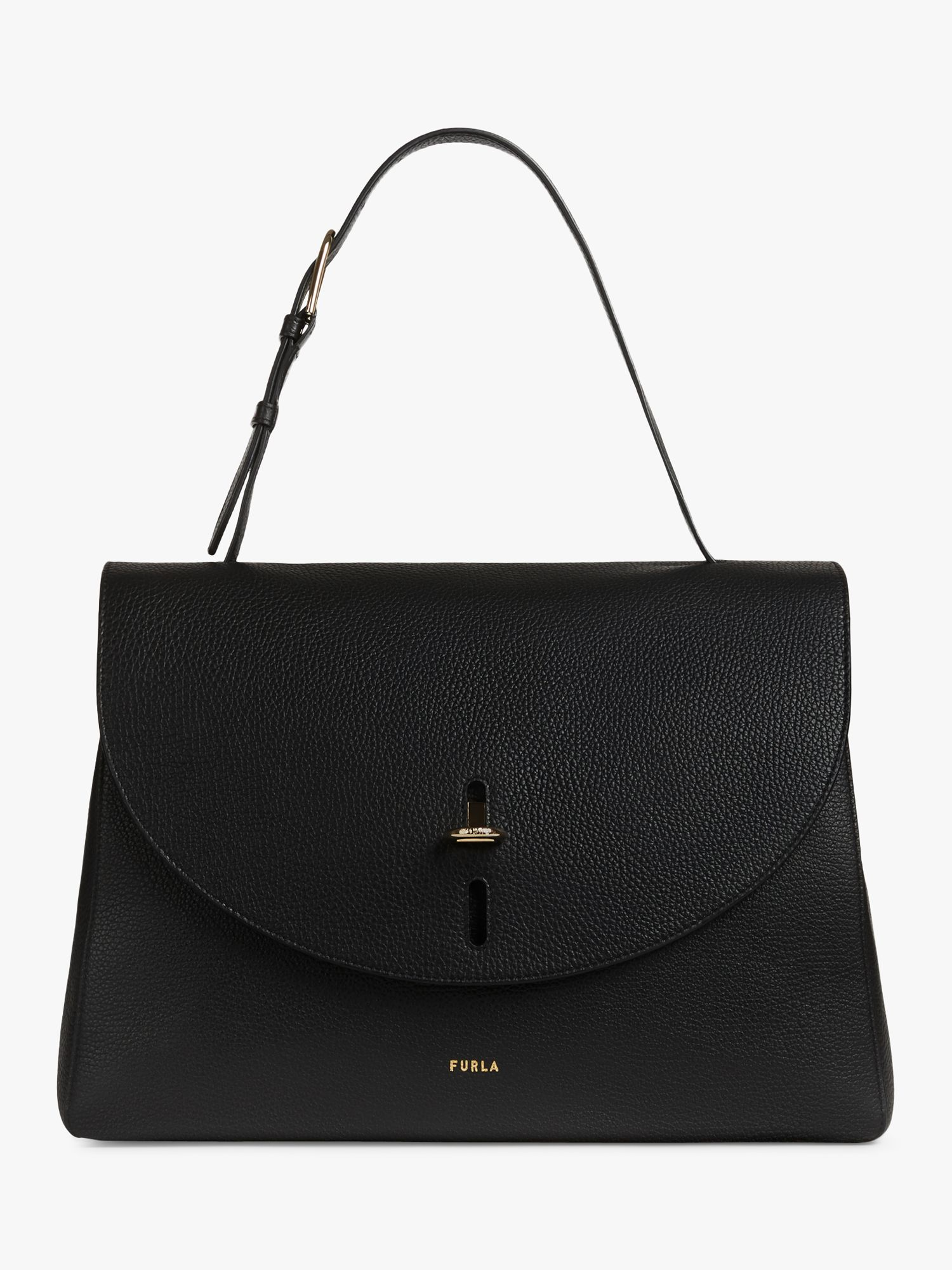 Furla Furla Net Top Handle Large Leather Shoulder Bag, Nero