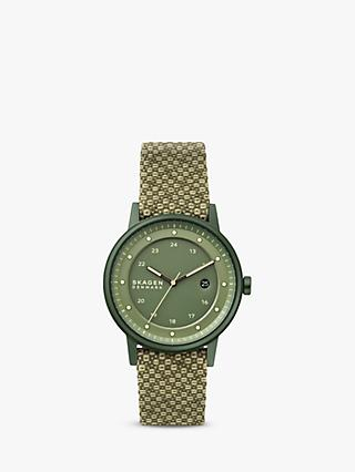 Skagen SKW6658 Unisex Limited Edition Henricksen Solar Recycled Strap Watch, Green