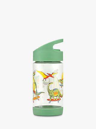 Cath Kids Children's Skateboarding Dinosaur Print Drinks Bottle, Green