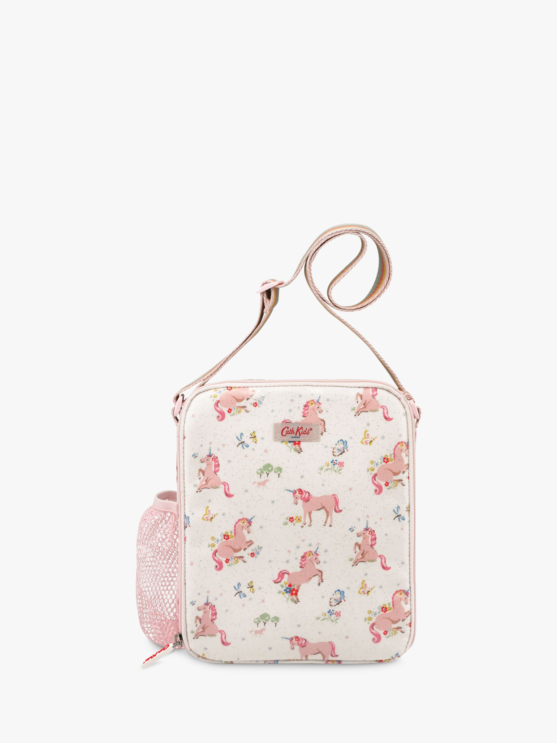 Cath Kidston Cath Kids Children's Unicorn Meadow Print Lunch Bag, Cream/Pink