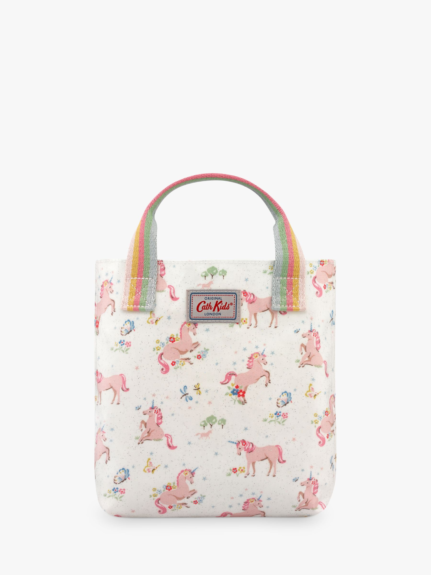 Cath Kidston Cath Kidston Kids' Mini Unicorn Meadow Shopper Bag, Cream