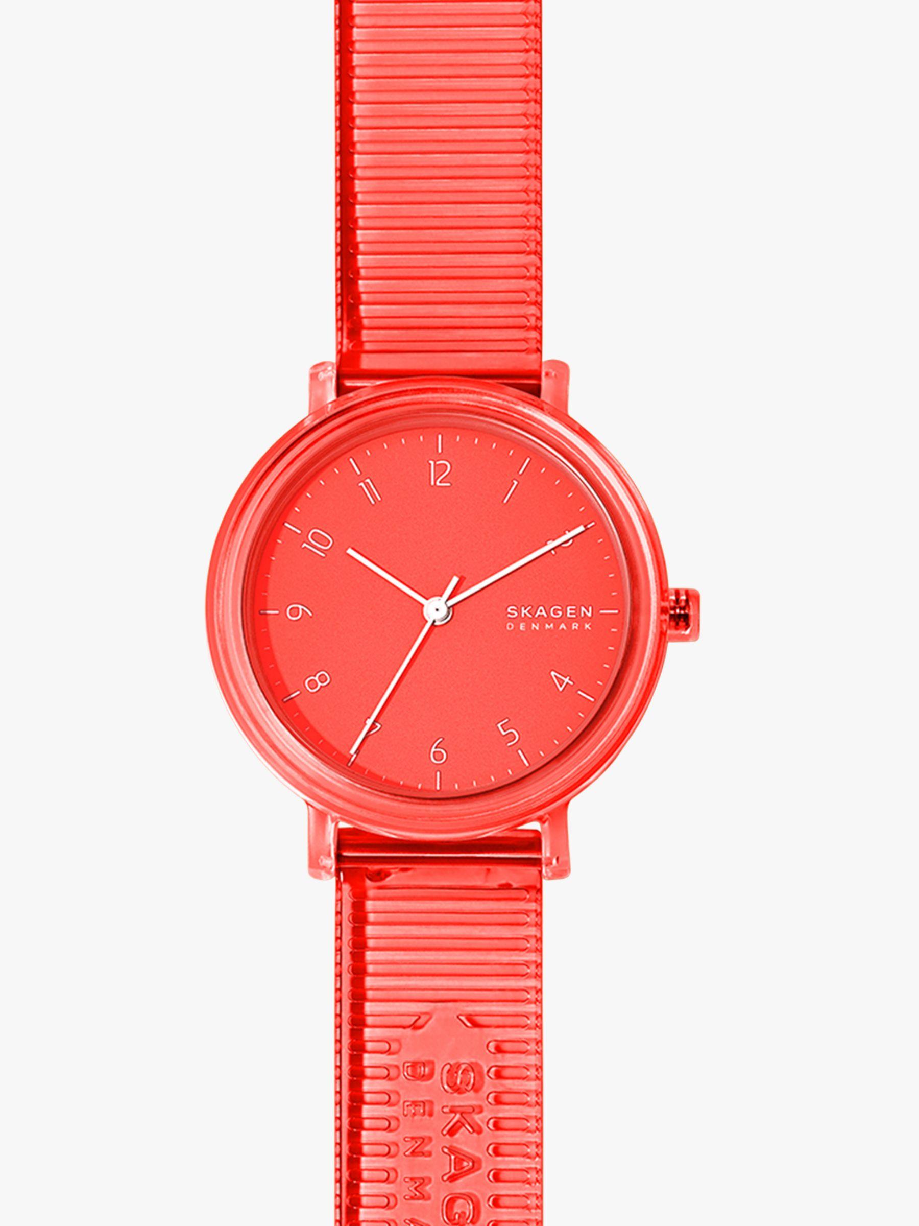 skagen Skagen Women's Aaren Transparent PU Strap Watch