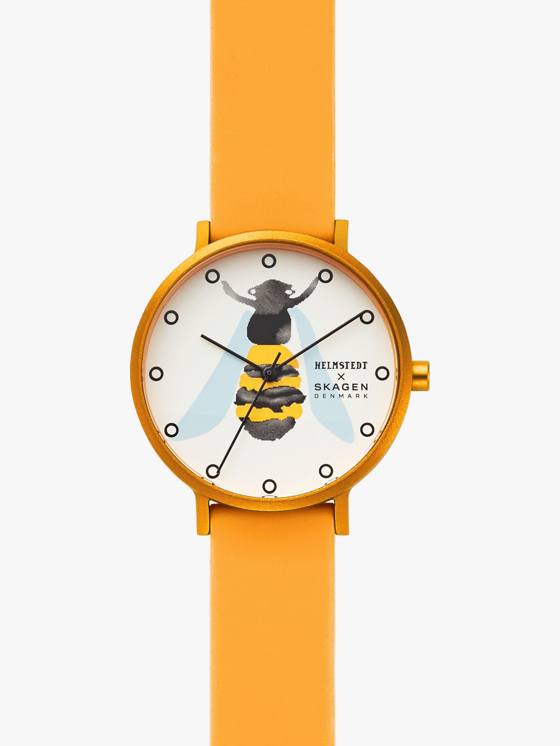 skagen Skagen SKW2892 Women's Aaren Silicone Strap Watch, Yellow/Multi