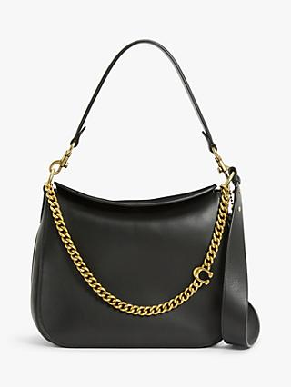 Coach Signature Chain Leather Hobo Bag