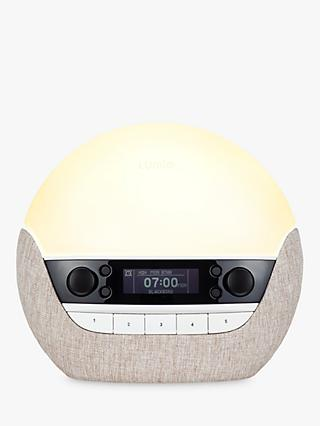 Lumie Bodyclock Luxe 700FM Wake Up to Daylight Table Lamp, Oatmeal