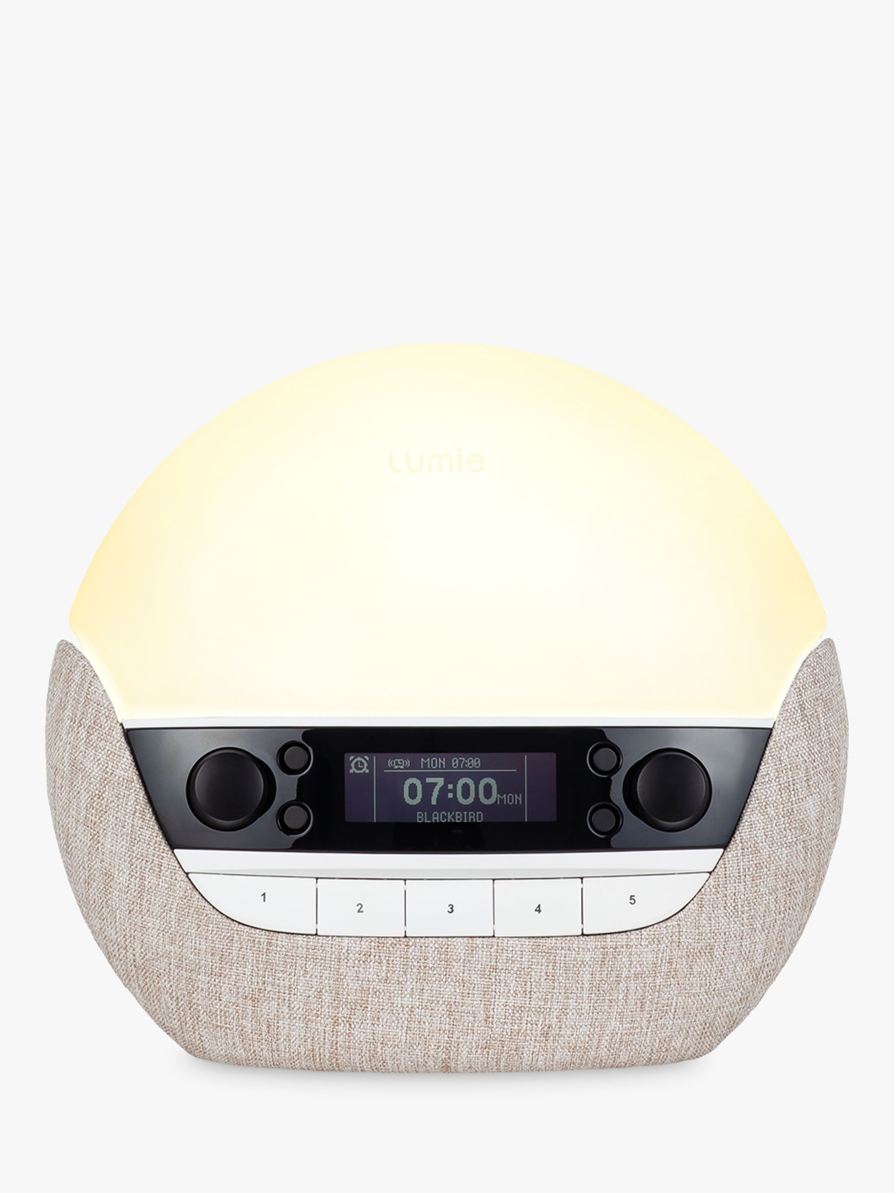 Lumie Lumie Bodyclock Luxe 700FM Wake Up to Daylight Table Lamp, Oatmeal