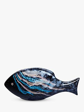 Poole Pottery Celestial Fish Ornament, Single