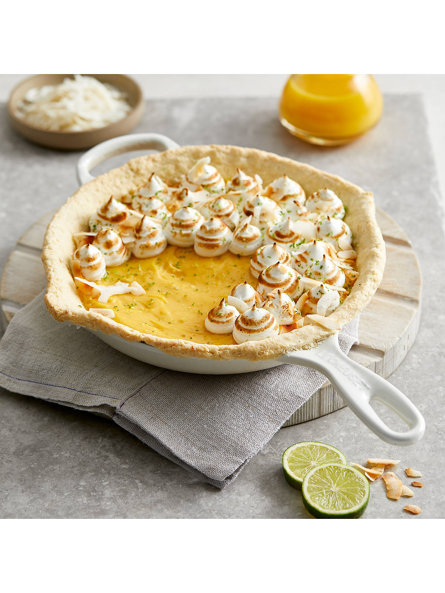 Buy Le Creuset Cast Iron 23cm Signature Skillet, Meringue Online at johnlewis.com