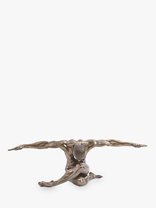 Libra Keswick Male Nude Arms Outstretched Oversized Sculpture, H44cm, Antique Bronze