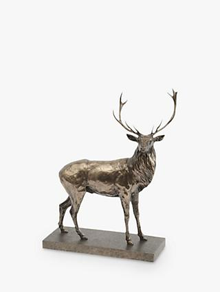 Libra Stag Sculpture, H50cm, Antique Bronze