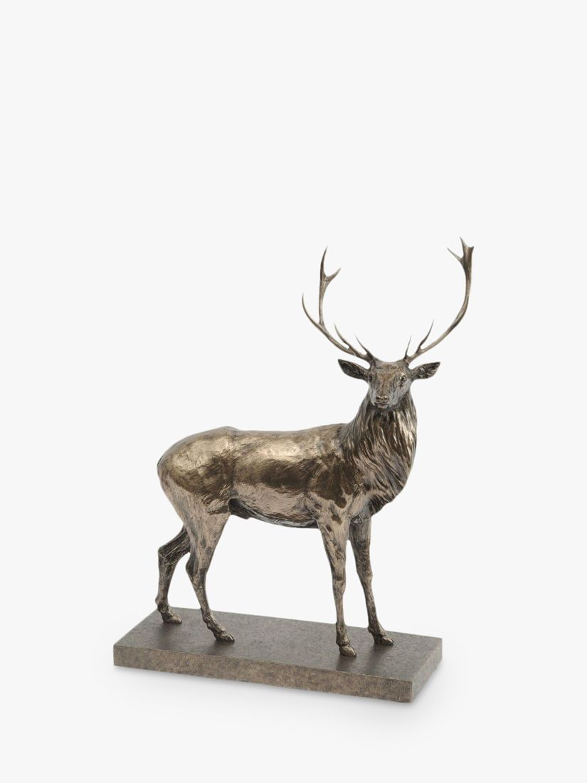Libra Libra Stag Sculpture, H50cm, Antique Bronze