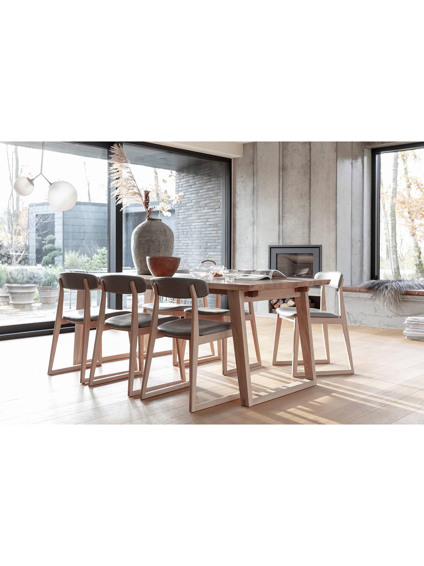 John Lewis Partners Reflex 6 Seater Dining Table Oak At John Lewis Partners