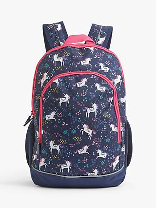 John Lewis & Partners Unicorn Children's Backpack