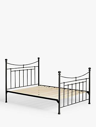 Wrought Iron And Brass Bed Co. Lily Iron Non Sprung Platform Top Bed Frame, Double