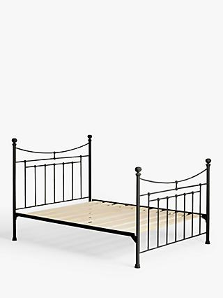 Wrought Iron And Brass Bed Co. Lily Iron Non Sprung Platform Top Bed Frame, Super King Size