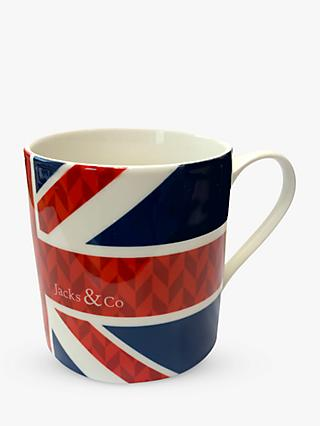 Jacks & Co Union Flag Mug, 325ml