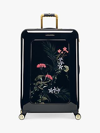 Ted Baker Hettaa Highland 80cm 4-Wheel Large Suitcase, Black