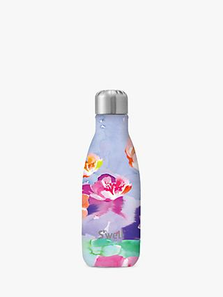 S'well Lilac Posey Vacuum Insulated Drinks Bottle, 260ml, Purple/Multi