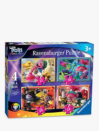 Ravensburger Disney Trolls II World Tour 4-in-a-Box Jigsaw Puzzle, 72 Piece