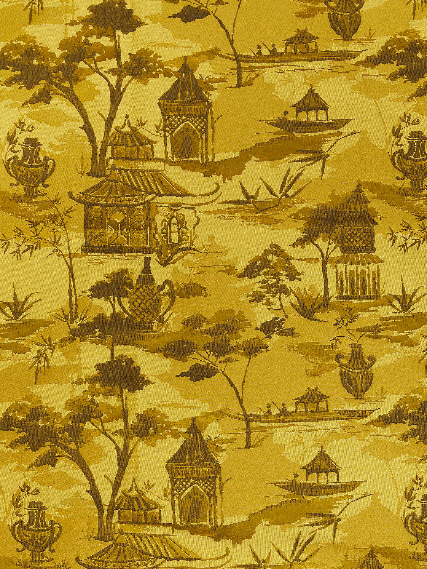 Buy John Lewis & Partners Pagoda Furnishing Fabric, Gold Online at johnlewis.com