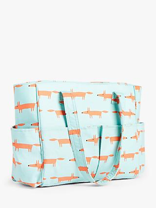 John Lewis & Partners Scion Fox Print Craft Bag, Aqua