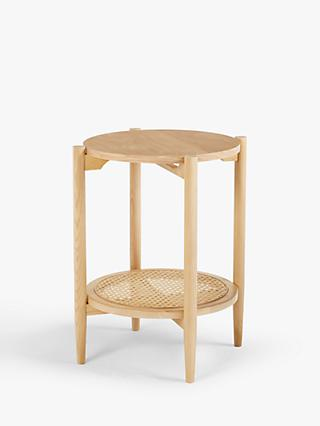 John Lewis & Partners Stacked Cane Side Table, Natural